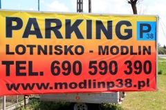 Parking Modlin czynny 24h/dobę