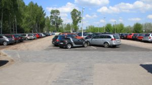 Parking P38 z kostka brukową