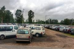 Widok na parking P38 przy lotnisku
