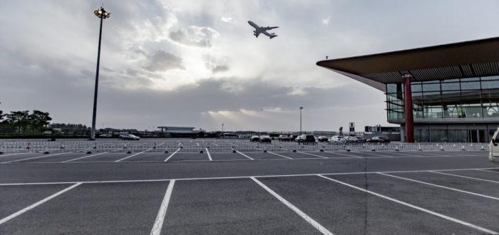 parking przy lotnisku
